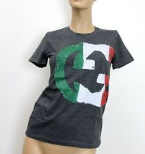 NEW Authentic Gucci Womens Top T-Shirt Interlocking G Italy Flag Limited! 296654