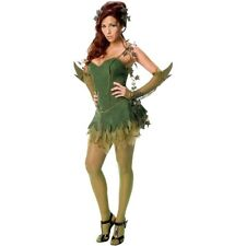 Poison Ivy Costume for Womens Sexy Adult Halloween Female Villain Fancy Dress