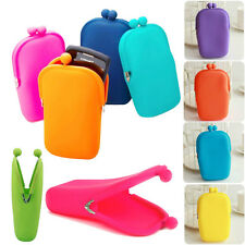 NEW Multi Jelly Silicone Cosmetic Bag Holder Phone Camera Credit Card Case