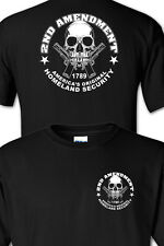Homeland Security Skull pro gun 2nd amendment T SHIRT