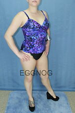 New Miraclesuit 2 Pc Tankini Swimsuit Roswell in Eggplant Purple Bathing Suit