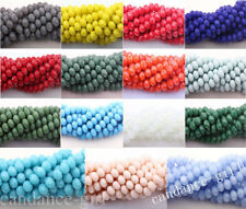 Wholesal Top Quality Czech Glass Faceted Rondelle Bead 4/6/8/10mm 15Color U Pick