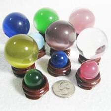 Glass or fiber optic (fiberoptic) marble/ball/sphere/orb Select size color L41