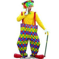 ADULTS 3 PIECE CLOWN COSTUME MENS CIRCUS PERFORMER FANCY DRESS STAG PARTY JESTER
