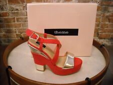 Theme Ruby Red Platform Strappy Retro Wedge Sandal NEW