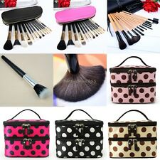 12PCS Cosmetic Make Up Makeup Brushes Brush Set Kit Goat Hair /Hand Case Bag B20