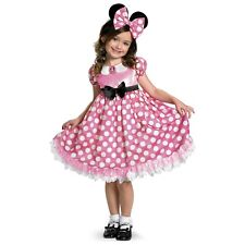 Pink Minnie Mouse Costume Toddler & Kids Sizes Halloween Disney Fancy Dress