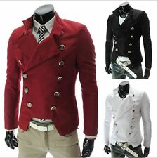 Hot New Double Breasted Men's Slim Fit Jacket Casual Suits Tops Coats Pop Blazer
