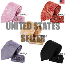 YAC2B06 Various Of Colors Pattern Marriage Gift Silk Tie Set 3PT By Y&G