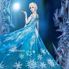 cloak A for Frozen Snow Queen ELSA Anna Cosplay Costume Dress tailor cloak cape