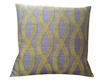 Stunning Mocha & lime Green oval fabric scatter retro cushion cover Pillow case