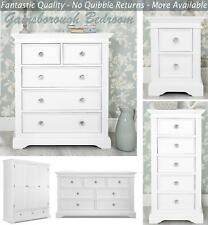 Shabby Chic Cream furniture, Stunning bedside table, chest of drawers, ASSEMBLED