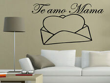 Te amo mama Spanish mother's day Mon Wall Decal Wall Quote Art Regalo Gift Vinyl