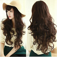 New Fashion Women's Ladies Long Curly Wavy Hair Full Wig Wigs Cosplay Party
