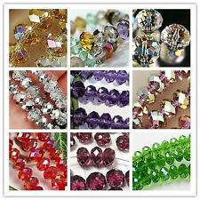 New 15 Colors Swarovski Crystal Loose Beads 4x6mm /6x8mm