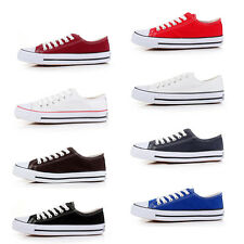 New Mens Canvas Atheletic Sports Shoes Casual Sneaker Lace Up Striped Chukka Low