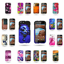 Hard Slim Fit Rubberized Plastic Phone Cover Case for BLU Life One L120