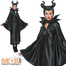 Maleficent Ladies Disney Fancy Dress Villian Womens Halloween Adult Costume New