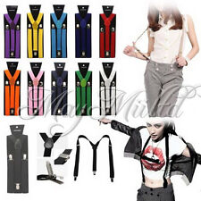 17 Colors Braces Suspenders Adjustable Unisex Neon UV Dress & Plain Y Back S