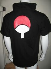 Naruto T-Shirt SASUKE Cosplay Costume Anime Black /Blue