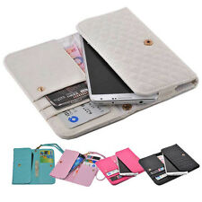 luxury Wallet Card Holder Full soft Cover Case Pouch skin For ZTE mobile phone