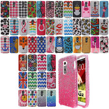 For LG Optimus G2 D800 D801 D802 LS980 DIAMOND BLING Hard Case Cover Phone + Pen