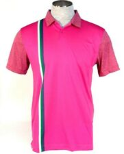 Nike Golf Sport Dri Fit Slim Fit Pink Short Sleeve Polo Shirt Mens NWT