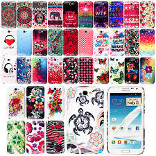 For Samsung Galaxy Note 2 N7100 I317 Art Design PATTERN Hard Case Back Cover