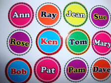 "12 LAWN BOWLS STICKERS 1"" NAMES NEW CROWN GREEN BOWLS FLAT GREEN INDOOR BOWLS"