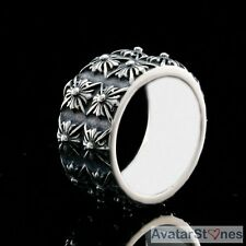 Men's Rocker Cowboy Biker Bling 316L Stainless Steel Fleur de Lis Ring R4V47