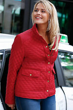 Red Coat Jacket Quilted Biker Style By La Redoute Plus Size 22 24 26 28 30 32 34