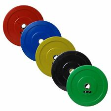 """Bumper Olympic 2"""" Weight Plates 5-25kg Plastic Coating Lifting Workout Training"""