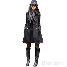 Vogue Fashion Womens Slim Fit Trench Double-Breasted Coat Jacket Outwear B8BU