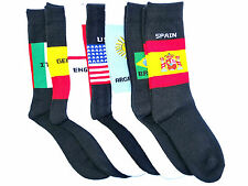 1 Pair Football Socks World Cup Brazil England Spain Germany Unisex Free Size