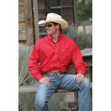MTW1103844 Cinch Mens Solid Red Long Sleeve Western Shirt NEW with TAGS
