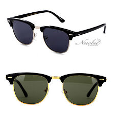 2 Pack Half Frame Vintage Style Sunglasses Retro Many Color Styles Many Colors