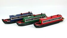 Small, wooden model narrow boat, leisure canal boat, nautical, 21cm, choice of 3