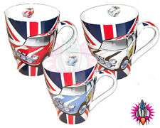 NEW RETRO UNION JACK FLAG MINI COOPER COFFEE MUG CUP IN COLOURS BLUE RED WHITE