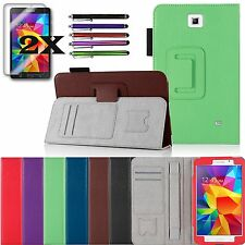 For Samsung Galaxy Tab4 8.0 8-inch PU Leather Case Cover Stand plus Accessories
