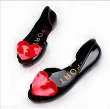 New Womens Summer Fish Mouth Shoes Candy Color Flats Sandals Jelly Shoes