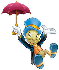 "6-9"" DISNEY PINOCCHIO JIMINY CRICKET WALL SAFE STICKER CHARACTER BORDER CUT OUT"