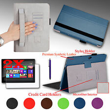 PU Leather Folio Case Cover for Microsoft Windows Surface 2 / RT Tablet 10.6""
