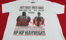 Mens NEW Notorious BIG Biggie vs Tupac 2pac Hip Hop Heavyweights T-Shirt Sz L XL