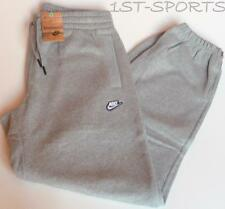 NIKE MENS TRAINING JOGGING PANTS, FLEECE TRACKSUIT BOTTOMS, JOG PANTS, GREY