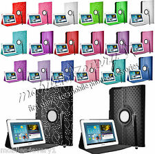 "360°ROTATING CASE LEATHER COVER FOR SAMSUNG GALAXY TAB 3 10.1"" P5200 P5210 P5220"