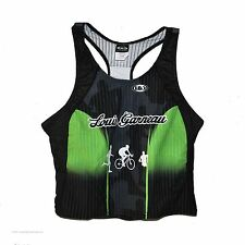 new Louis Garneau women's triathlon tri tank with inner sports bra triline knit