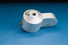 Flagpole Pulleys - stationary with set screws and nylon pulley
