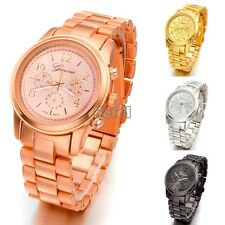 New Mens Womens Stainless Steel Quartz Sport Army Wrist Watch 4 colors BF00