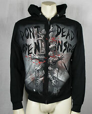 Authentic THE WALKING DEAD Don't Open Dead Inside Zipup Hoodie S M L XL XXL XXXL