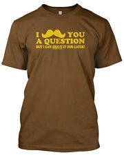 Moustache You A Question Tshirt Funny Mens Unisex Movember Tee 11 colours